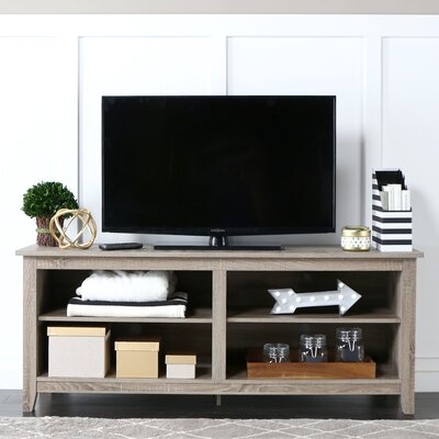 Sunbury 58 TV Stand with Optional Fireplace Color: Driftwood, Fireplace Included: No