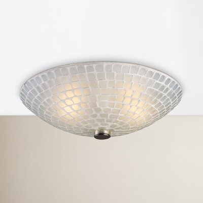 Roehampton 2-Light Semi Flush Mount Shade Color: White