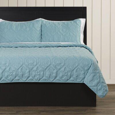 Sneads 3 Piece Quilt Set Size: King, Color: Light Blue