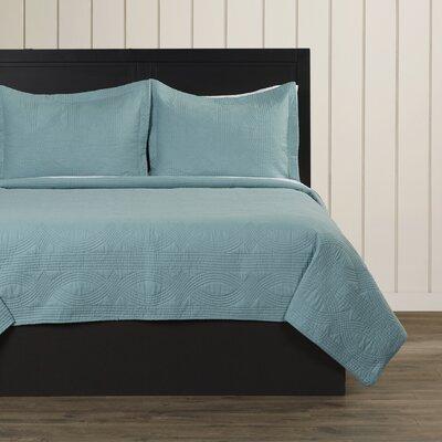 Bay Quilt Set Size: King, Color: Mineral