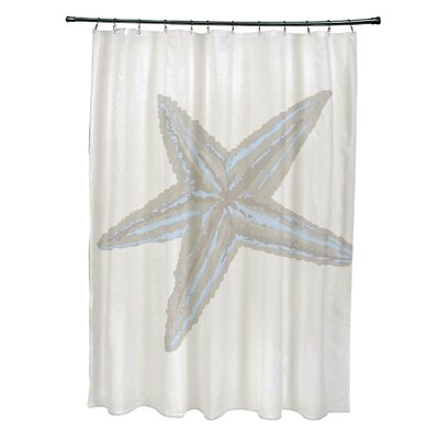 Rajashri Shower Curtain Color: Light Blue/ Oatmeal