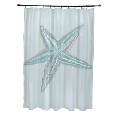 Nokomis Shower Curtain Color: Aqua