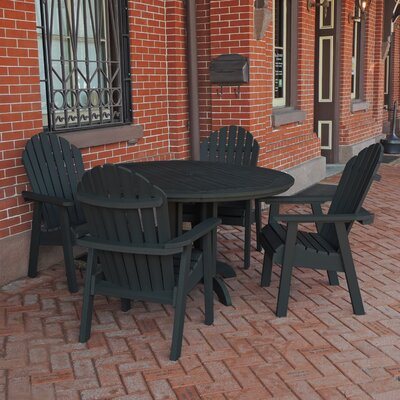 Amiya 5 Piece Dining Set Finish: Black