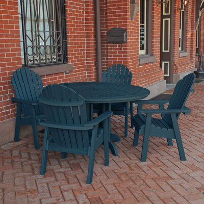 Amiya 5 Piece Dining Set Finish: Nantucket Blue
