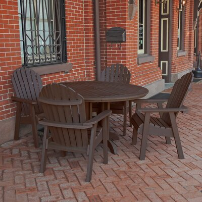 Amiya 5 Piece Dining Set Finish: Weathered Acorn