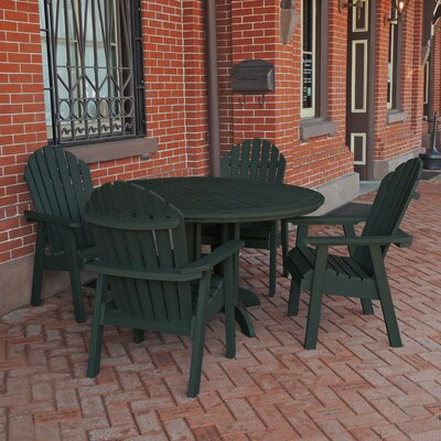 Albion 5 Piece Dining Set Finish: Charleston Green