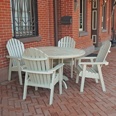 Amiya 5 Piece Dining Set Finish: Whitewash