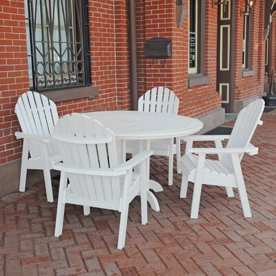 Albion 5 Piece Dining Set Finish: White