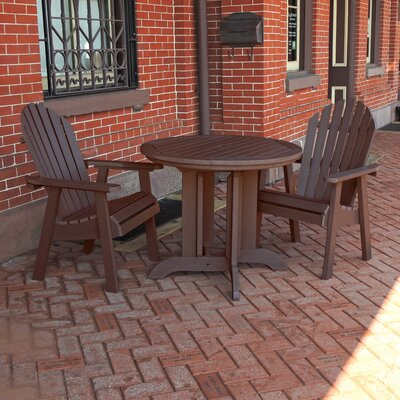 Albion 3 Piece Dining Set Finish: Weathered Acorn