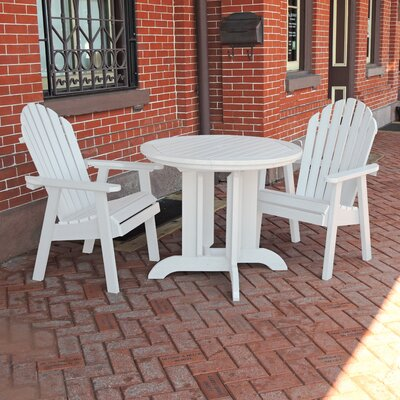 Amiya 3 Piece Dining Set Finish: White