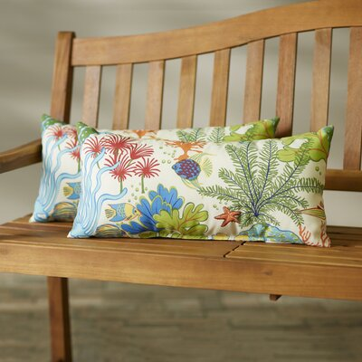 Evadne Outdoor Lumbar Pillow Size: 12x24