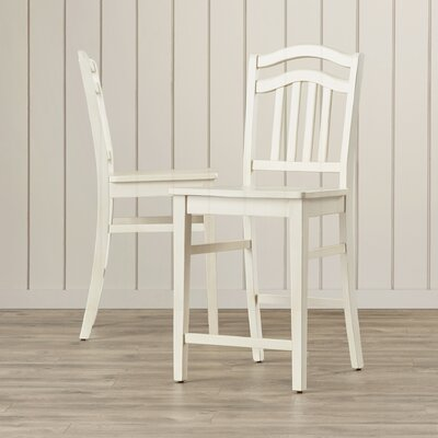 Silver Springs 24 Bar Stool (Set of 2) Color: White