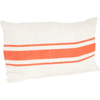 Chaliah Lumbar Pillow Color: Tangerine