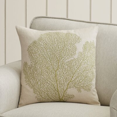 Boulevard Cotton Throw Pillow Color: Beach Lime