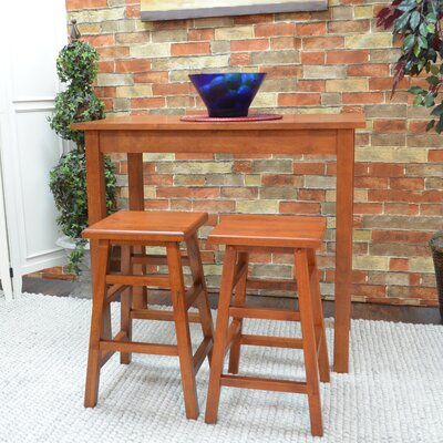 Waquoit 3 Piece Pub Table Set Finish: Walnut