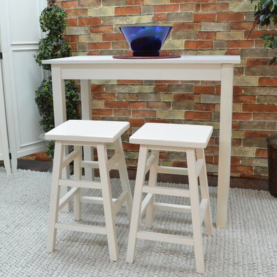 Waquoit 3 Piece Pub Table Set Finish: White