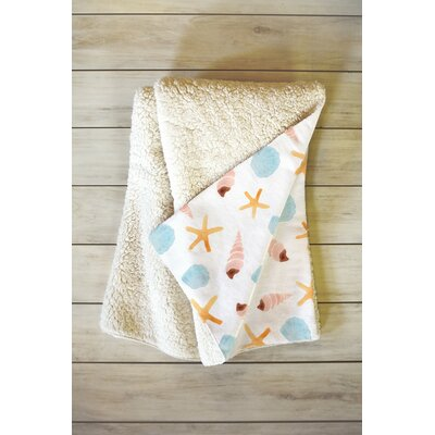 Murphy Swept Ashore Fleece Throw Blanket Size: 80 L x 60 W