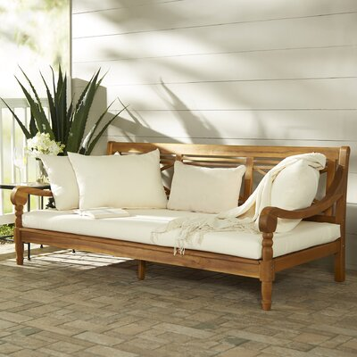 Cheval Daybed Color: Teak Brown/Beige