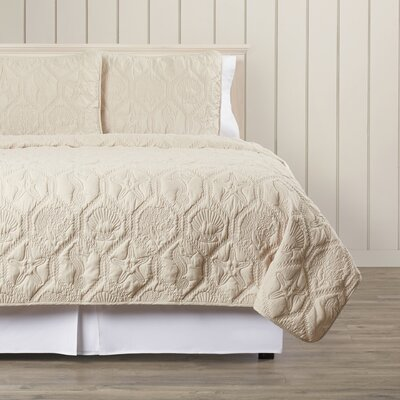 Sneads 3 Piece Quilt Set Size: King, Color: Sand Shell