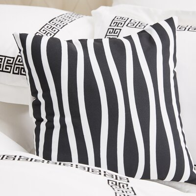 River Ridge Wavy Throw Pillow Size: 20 H x 20 W, Color: Black