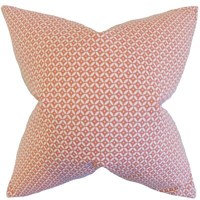 Conrad Geometric Cotton Throw Pillow Color: Blush, Size: 24 x 24