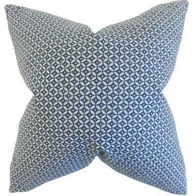 Conrad Geometric Cotton Throw Pillow Color: Indigo, Size: 18 x 18