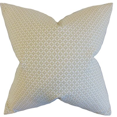 Conrad Geometric Cotton Throw Pillow Color: Linen, Size: 18 x 18