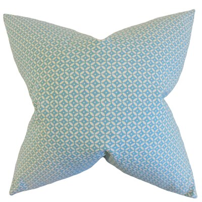 Conrad Geometric Cotton Throw Pillow Color: Rain, Size: 18 x 18