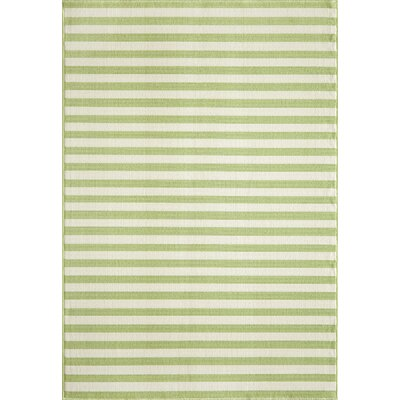 Harbeson Green Indoor/Outdoor Area Rug Rug Size: Rectangle 18 x 37