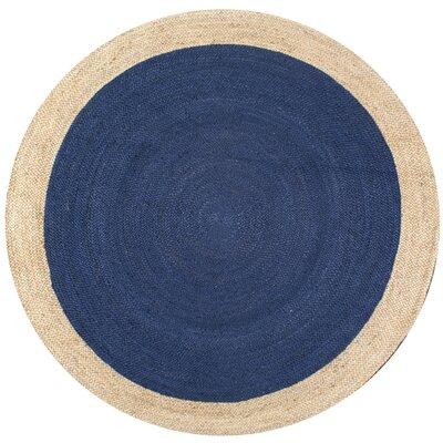 Murphysboro Hand-tufted Graphite Area Rug Rug Size: Round 4