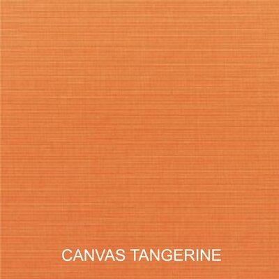 2 Piece Outdoor Sunbrella Chair Cushion Set Color: Canvas Tangerine