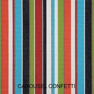 2 Piece Outdoor Sunbrella Chair Cushion Set Color: Carousel Confetti