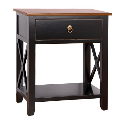 Landau 1 Drawer Nightstand Color: Black