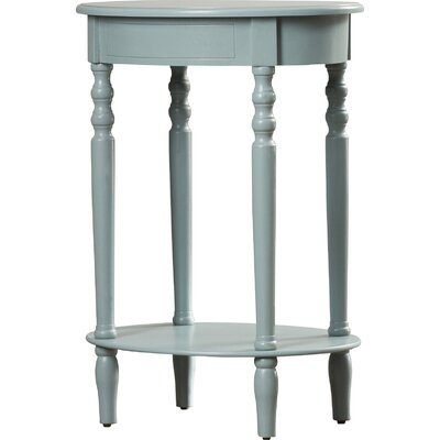 Crestmont End Table Color: Antiqued Iced Blue