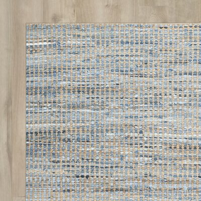 Arria Hand-Woven Natural/Blue Area Rug