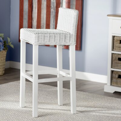 Gonzalez 29.5 Bar Stool Finish: White