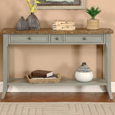Seacroft Console Table Finish: Sage Green/Brown