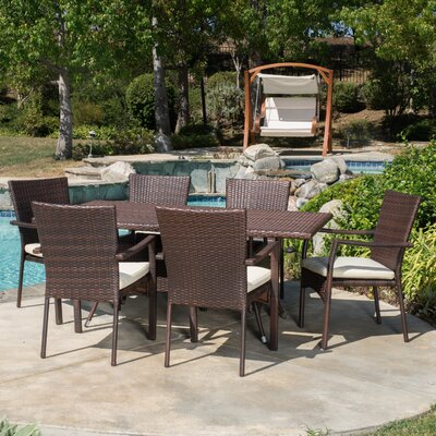 Brandon 7 Piece Dining Set Finish: Gray
