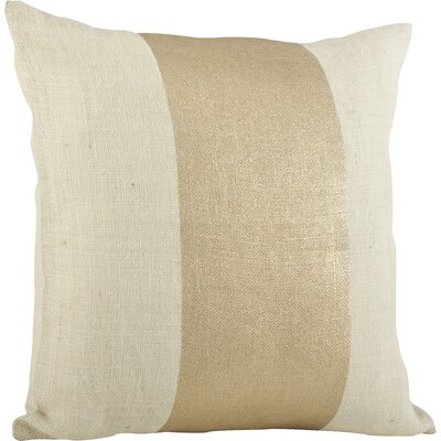 Laurel Banded Cotton Throw Pillow Color: Ivory
