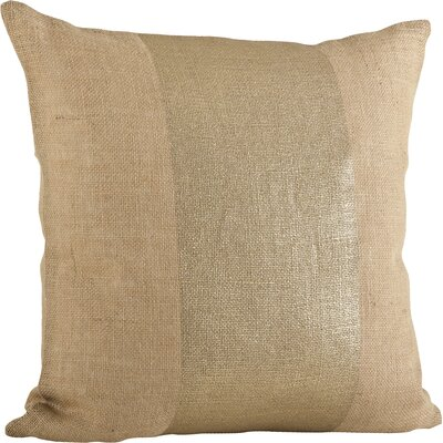 Laurel Banded Cotton Throw Pillow Color: Natural