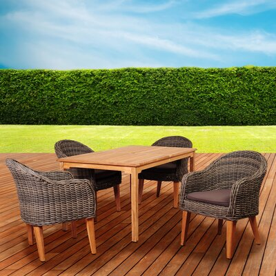 Elsmere 5 Piece Dining Set with Cushions