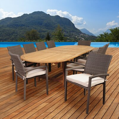 Elsmere 11 Piece Dining Set with Cushions
