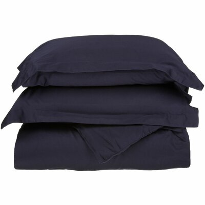 Campfield Duvet Cover Set Color: Navy Blue, Size: Twin/Twin Extra Large