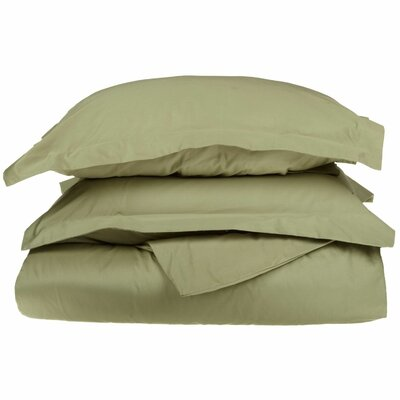 Campfield Duvet Cover Set Size: Full / Queen, Color: Sage