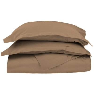 Campfield Duvet Cover Set Color: Taupe, Size: King/California King