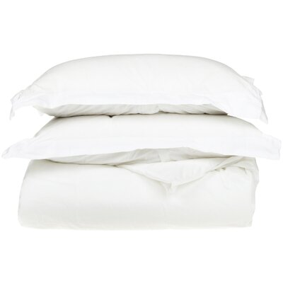 Campfield Duvet Cover Set Color: White, Size: Twin/Twin Extra Large