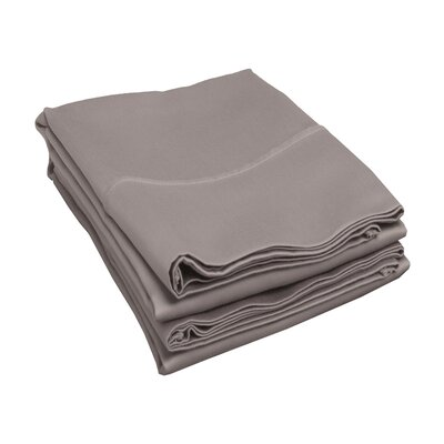 Campfield 500 Thread Count Pillowcase Size: King, Color: Grey