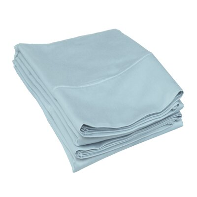 Campfield 500 Thread Count Pillowcase Size: King, Color: Light Blue