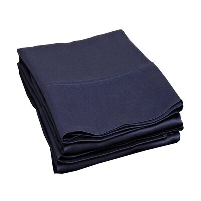 Campfield 500 Thread Count Pillowcase Size: King, Color: Navy Blue
