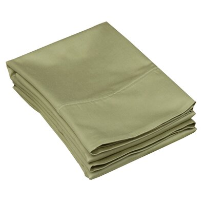 Campfield 500 Thread Count Pillowcase Size: King, Color: Sage